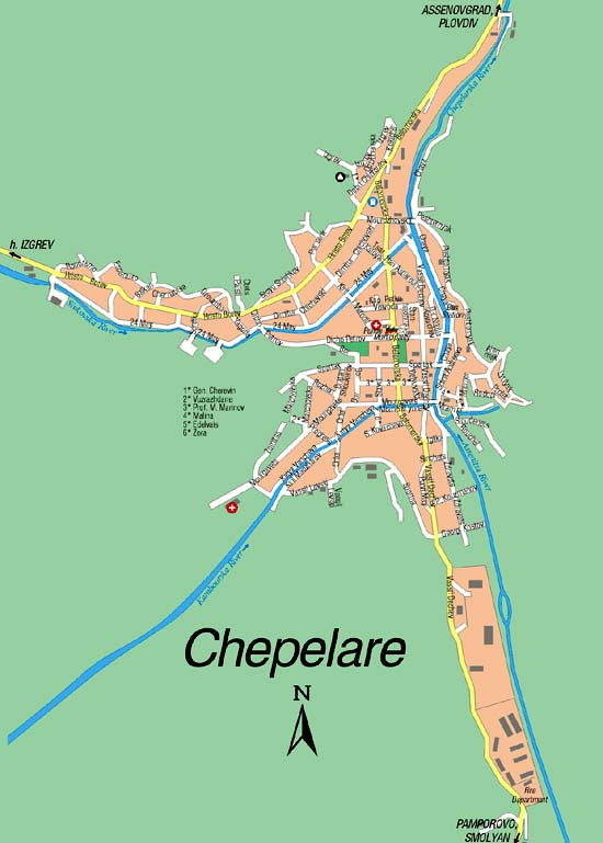 Chepelare map