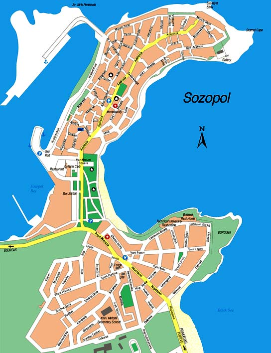 Sozopol map